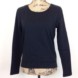 Lululemon Black Long Sleeve Pleat Back Top -N145